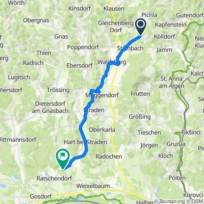 Bairisch Kölldorf 240 nach Deutsch Goritz 32