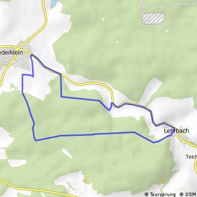 Wald und Radweg Tour Niederklein