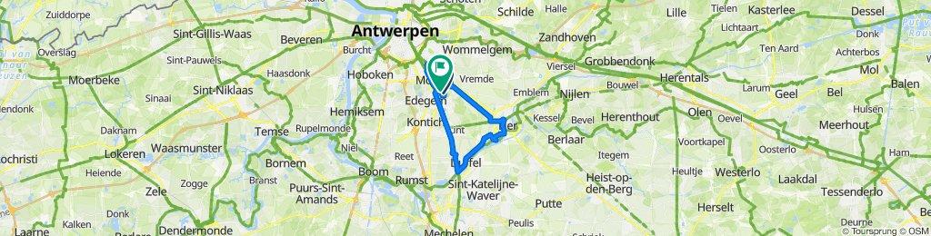 Frijthout 5, Hove naar Kretenburgstraat 104, Mortsel