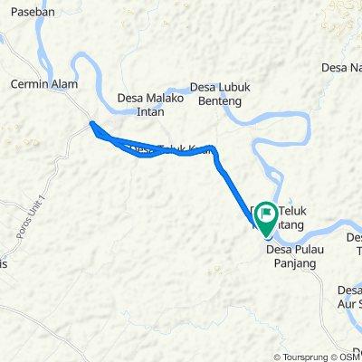 Jalan Padang Lamo, Tebo Ulu to teluk kuali