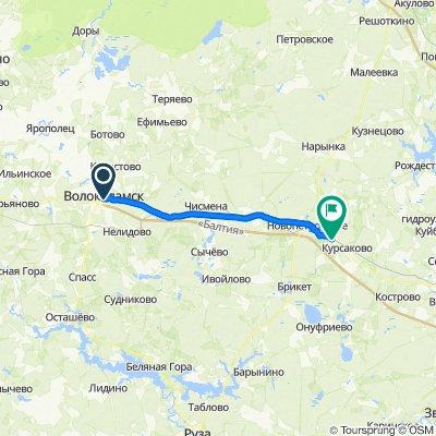 От улица Панфилова 22, Волоколамск до Румянцево