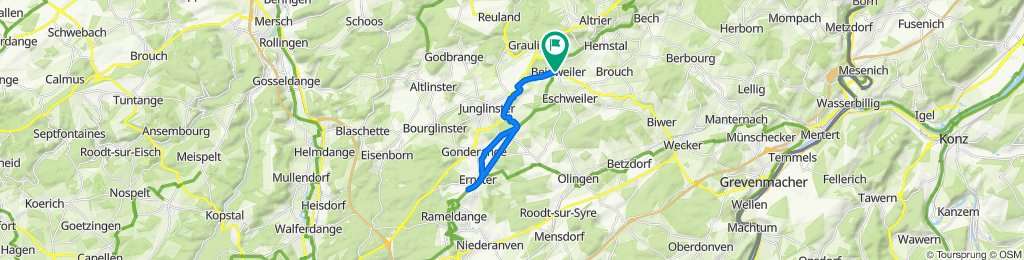 Rue Neuve 1, Bourglinster naar Rue Neuve 1, Bourglinster