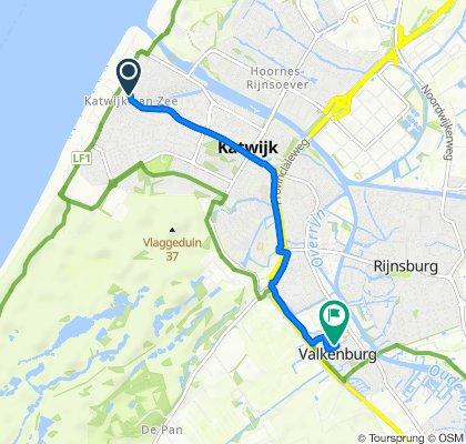 Koningin Wilhelminastraat 18, Katwijk naar Prairievalk 6, Valkenburg