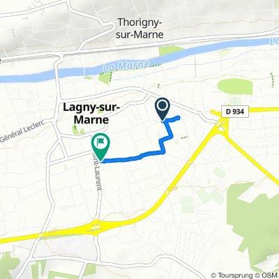 De 21 Rue Lamartine, Lagny-sur-Marne à 46 Rue Alfred Brébion, Lagny-sur-Marne