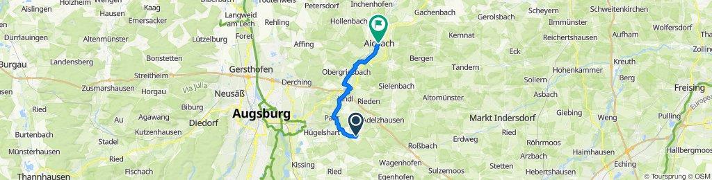 Gartenstraße 12, Eurasburg nach Stadtplatz 48, Aichach