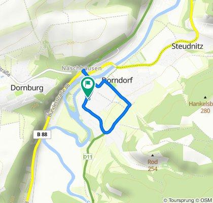 Markt 4, Dornburg-Camburg nach Markt 4. kleine Dorfkontrollfahrt