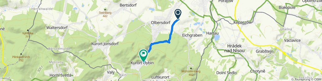 Mittelweg, Olbersdorf nach Friedrich-Engels-Straße, Oybin