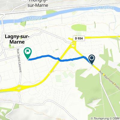 De 22 Avenue Raymond Poincaré, Lagny-sur-Marne à 41–43 Rue Alfred Brébion, Lagny-sur-Marne