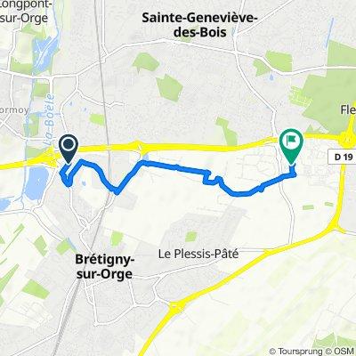 De Zone d'Activités des Daumônes, Brétigny-sur-Orge à Avenue de la Croix-Blanche, Sainte-Geneviève-des-Bois