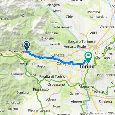 Via Giorda 47, Almese to Via Parma 24C, Torino