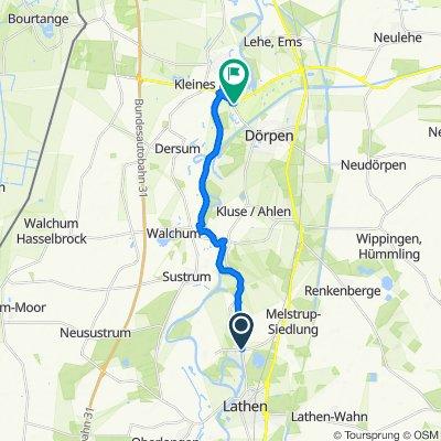 Kanalstraße 19–117, Fresenburg nach B401, Dörpen