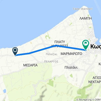 Route from Unnamed Road, Kos