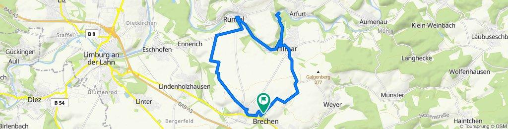 Route von Ahornstraße 10, Brechen