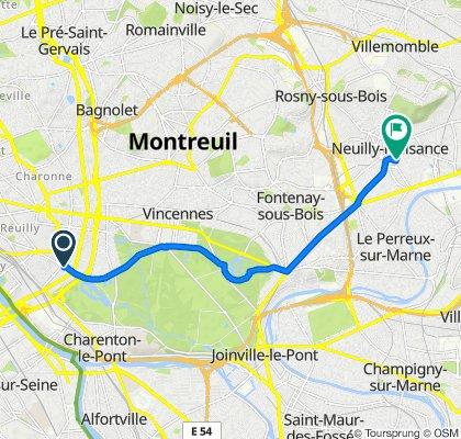 De 259Bis Avenue Daumesnil, Paris à 3 Rue Alexandre Premier, Neuilly-Plaisance