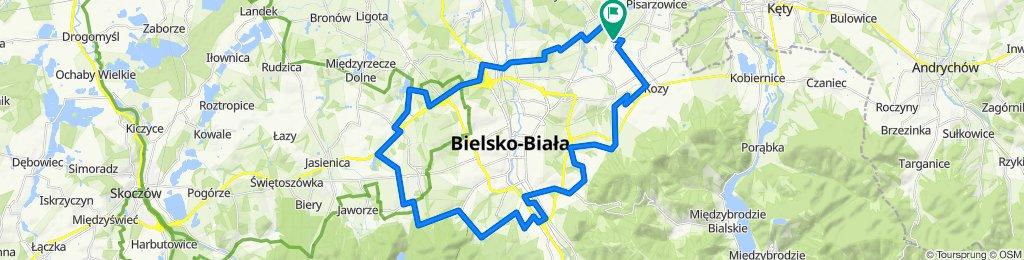 Hałcnów Granica, Bielsko-Biała do Hałcnów Granica, Bielsko-Biała