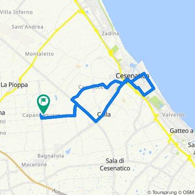 Da Via Violetto di Capannaguzzo 113, Cesena a Via Maccanino 30–124, Cesena