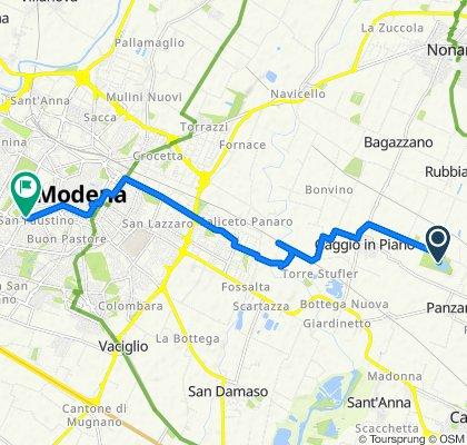 Da Via Prati 50, Castelfranco Emilia a Via Giovanni Grillenzoni 7, Modena