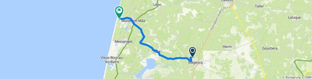 Itinéraire à partir de 21 Rue des Chênes Verts, Magescq