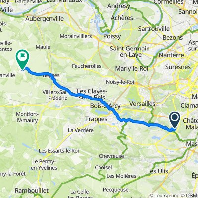 De 6bis Rue du Coteau, Bièvres à 28ter Rue de la Porte Saint-Martin, Thoiry