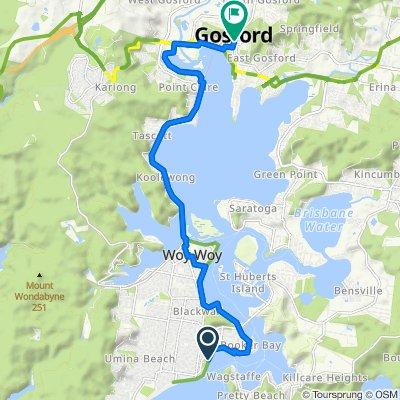 Ettalong to Gosford via Booker Bay
