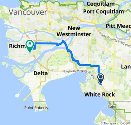 2929 156 St, Surrey to 10643–10899 Athabasca Dr, Richmond