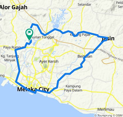 Jalan Selendang 8, Krubong to Jalan Selendang 8, Krubong