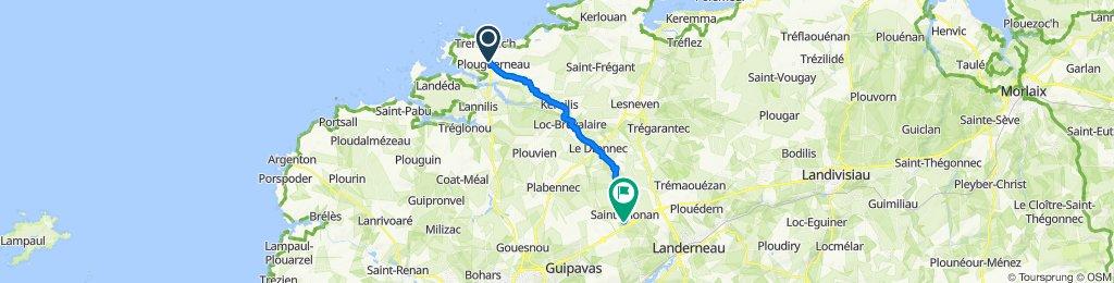 De 8 Place de l'Église, Plouguerneau à 544–628 Rue de Pen ar Quinquis, Saint-Thonan