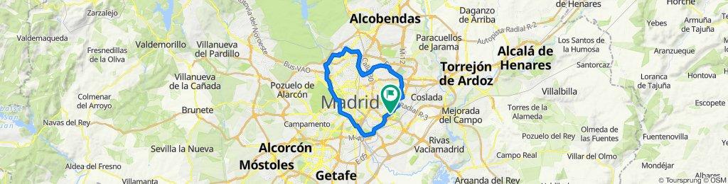 De Calle de Ladera de los Almendros, 23G, Madrid a Plaza de Juan Benet, Madrid