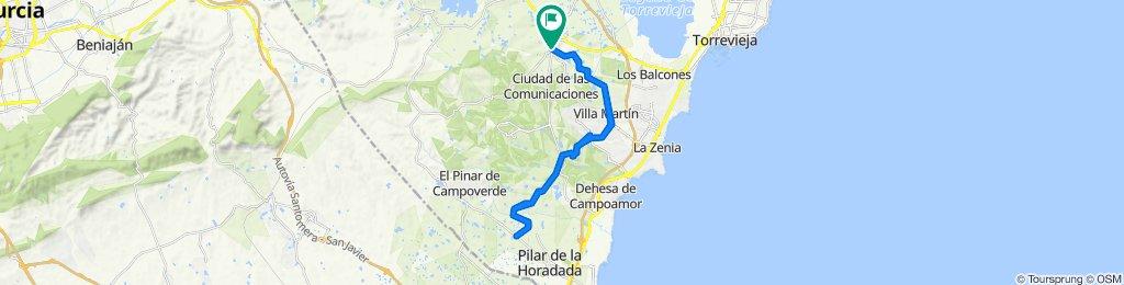 Carretera de Campoamor, San Miguel de Salinas to Carretera de Campoamor, San Miguel de Salinas