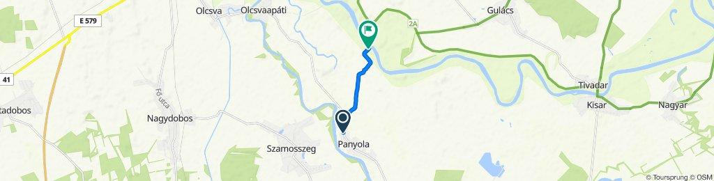 Route from Szombathelyi utca 89., Panyola