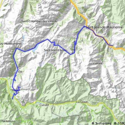 4. Etappe: Saint-Jean-de-Maurienne - Alpe d'Huez - Le Bourg d'Oisans