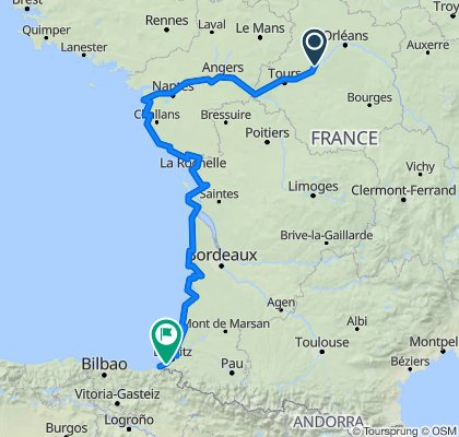 Frankreich 08-09/2013: Bloir bis Irun