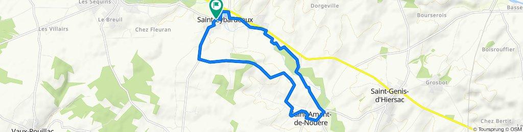 De 135 Rue de la Fontaine de la Regane, Saint-Cybardeaux à 135 Rue de la Fontaine de la Regane, Saint-Cybardeaux