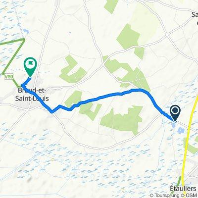 61 Route des Mathas, Etauliers to 15 Route du Stade, Braud-et-Saint-Louis