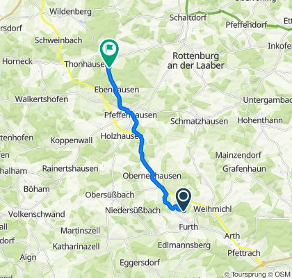 Route nach Baldershausen 9A, Pfeffenhausen