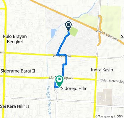 Medan Estate, Kecamatan Percut Sei Tuan to Jalan Pendidikan 138, Kecamatan Medan Tembung