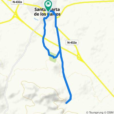 De Calle Francisco Pizarro 3, Santa Marta a Calle Luis Chamizo 10, Santa Marta