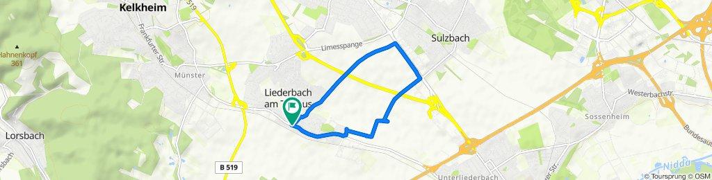 Eppsteiner Weg, Liederbach am Taunus nach Bahnstraße 13, Liederbach am Taunus