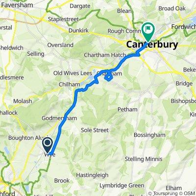 68 Churchfield Way, Ashford to Saint Dunstan's Street, Canterbury
