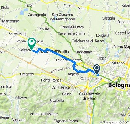 Da Via Emilia Ponente 220, Bologna a Via San Lorenzo 37, Crespellano