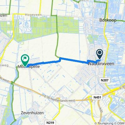 Van Mecklenburg Schwerinlaan 2, Waddinxveen do Moerkapelse Zijde 36, Moerkapelle