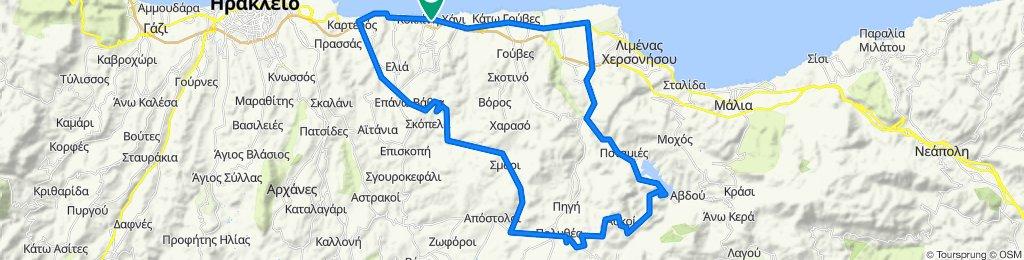 Potamies - Askoi - Kasteli - Smari - Apostoloi - Vathia - Karteros