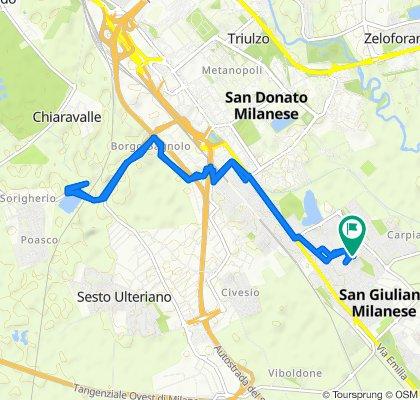 Da Via De Nicola Enrico 4, San Giuliano Milanese a Via De Nicola Enrico 4, San Giuliano Milanese