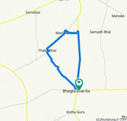 Bhagta Bhadaur Road, Bhagta Bhai Ka to Bhagta Bhadaur Road, Bhagta Bhai Ka
