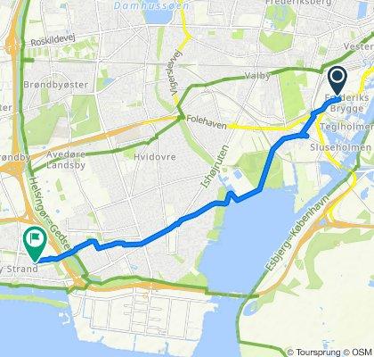 Vasbygade 32, København to Daruplund 17, Brøndby Strand