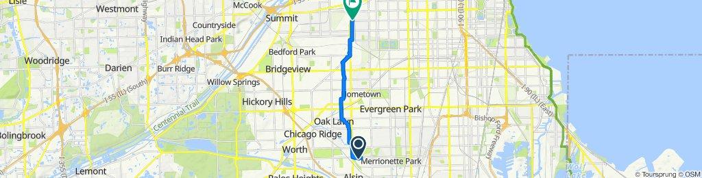 11534 S Kolmar Ave, Alsip to 5701 S Cicero Ave, Chicago