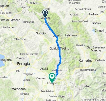 Da San Donà di Piave a Roma - 5ta tappa Cantiano a Foligno