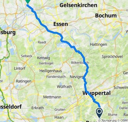 Erdelenstraße 37, Remscheid nach Vereinstraße 6D, Oberhausen