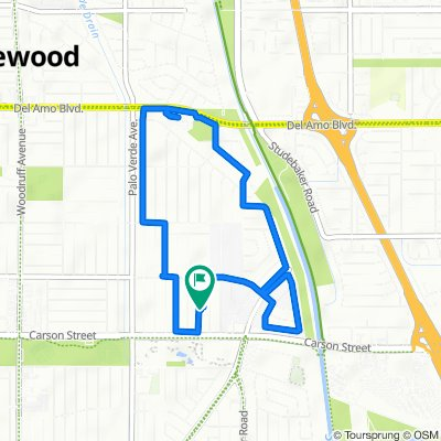 4154 Monogram Ave, Lakewood to 4148 Monogram Ave, Lakewood