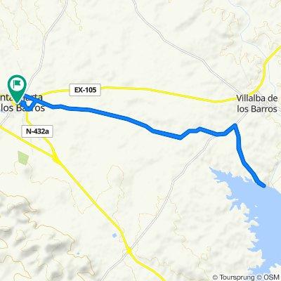 De Calle Badajoz 1A, Santa Marta a Calle Luis Chamizo 6, Santa Marta